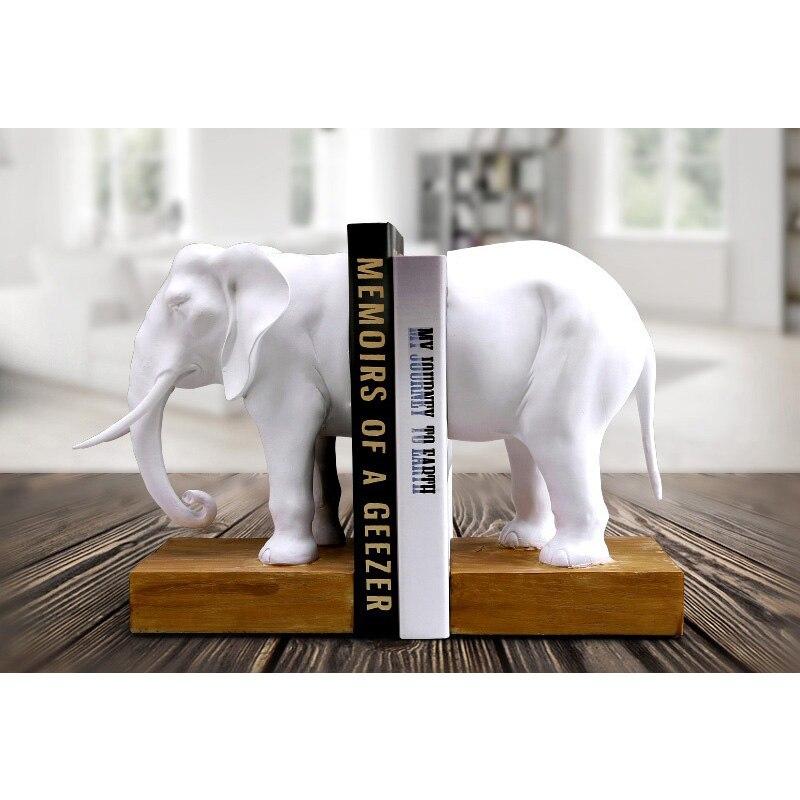 Accessori Decorazione Della casa Fermalibri Fermalibri In Resina Animal Figurine Elefante Elefante Modello In Miniatura Creatività Lavoro Manuale Classico