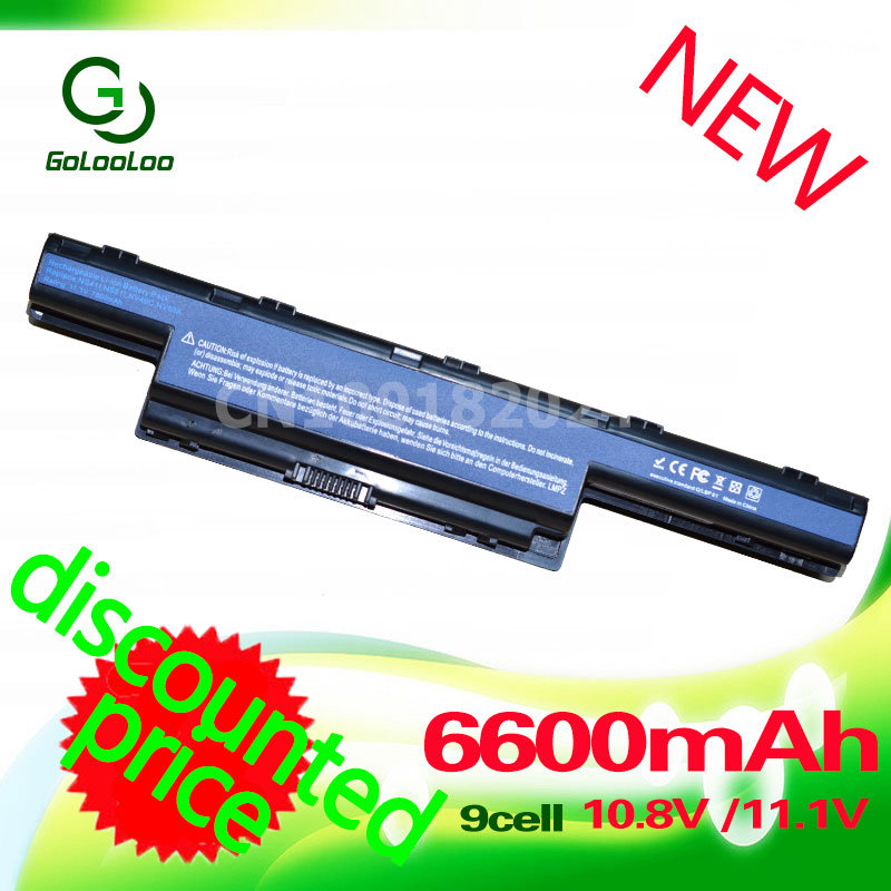 Golooloo 6600mah Battery for Acer AS10D31 AS10D51 AS10D61 AS10D71 AS10D75 AS10D81 v3 771g 5560 5750 5551G 5560G as10d41 5750G