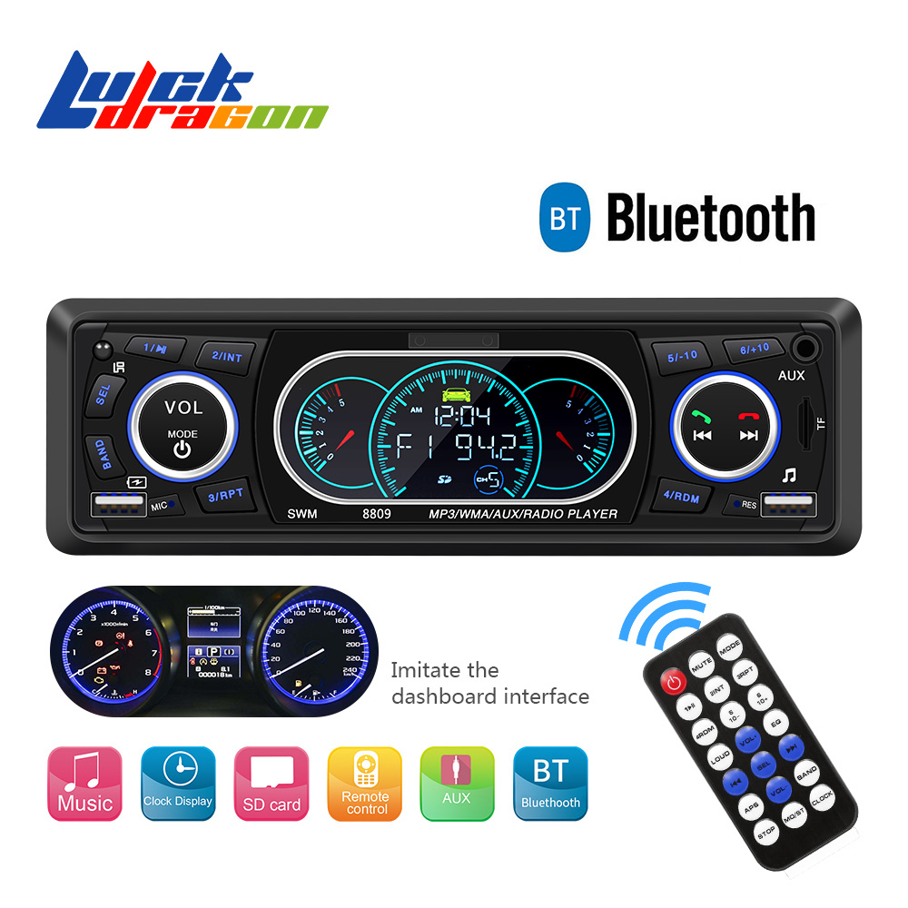 Radio Remote Control MP3 Player 1 Din Car Radio Bluetooth Car Audio AUX/TF/USB FM Auto Radio Phone Charging  Music Car stereo