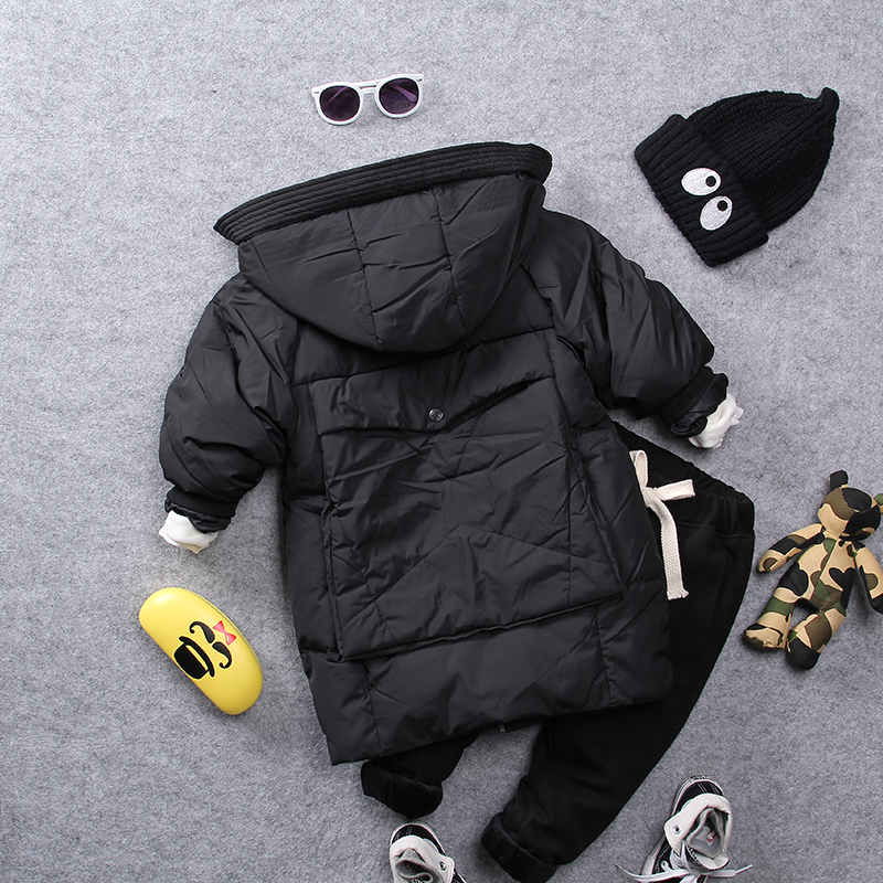 2-9Y new 2018 winter thicken warm cotton-padded fashion style boys coat with hood 1pc boys warm thick winter jacket2-9Y new 2018 winter thicken warm cotton-padded fashion style boys coat with hood 1pc boys warm thick winter jacket