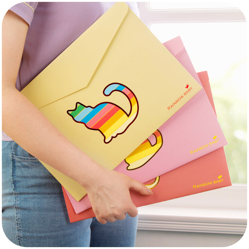 South Korea creative hollow animal paper A4 file bag, color cartoon office data bag W2226 ...