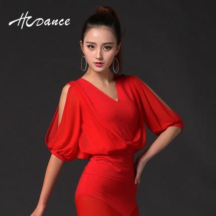 Robe rouge pour femme et fille jupe mi manche danse latine robe aile chauve souris robe pour salle de bal danse robe Latina danse de noël
