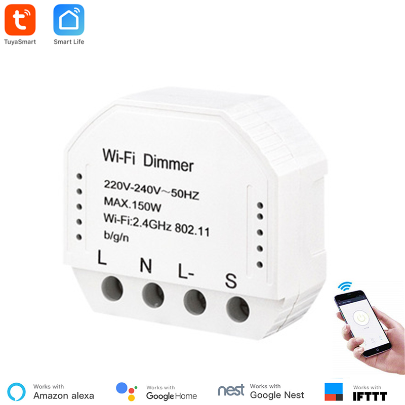 Smart Life App Control Alexa Compatible WiFi Dimmer Switch Module Transform Traditional Switch Timer Voice Control  Support