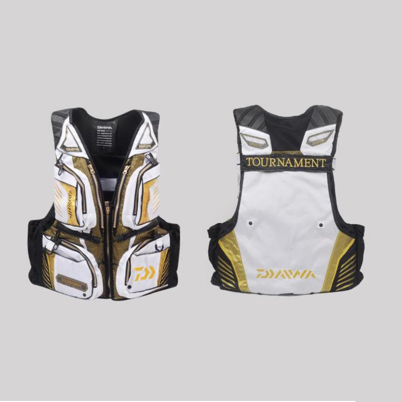 New Outdoor Fishing Vest Life Jacket Fishing Clothes Fish Tackle 120KG Portable Breathable Flotation Vest For