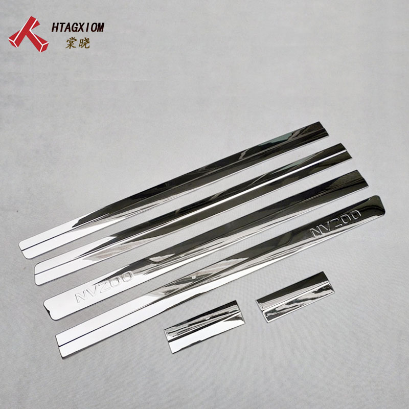 for Nissan Nv200 Evalia 2010 2018 Abs Chrome Door Edge Strips Body Strip Trim Car Styling Stickers Decoration Accessories 6 Pcs