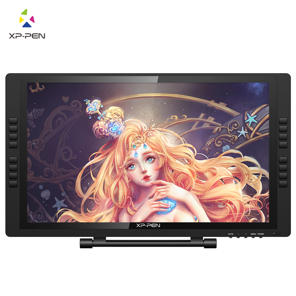 XP-Pen 22E Pro HD IPS Digital Graphics Drawing Tablet Pen Display Monitor with Express Keys and Adjustable Stand bosto kingtee 22hdx 22 full hd ips panel with battery free pen have eraser function on pen with 20 pcs express key