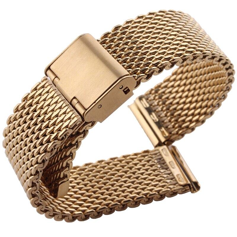 купить 18 mm 20 mm 22 mmStainless Steel Watch Band Strap Watchbands Replacement For Seiko/Hamilton по цене 2102.67 рублей