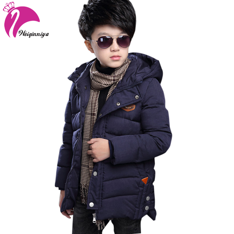 2018 Winter Children Jacket&Coat For Boys New Arrivals Fashion Hooded Outwear Kids Down Coat Padded-Cotton Boy Clothes Outwears pair of stylish rhinestone triangle stud earrings for women