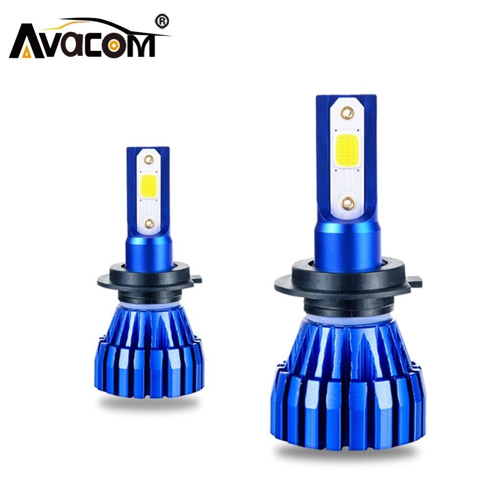 LED H11 H3 H7 Mini Car Headlight Lamps 12V 6500K 4300K 8000Lm COB Chip 9005/HB3 9006/HB4 9012/Hir2 Auto Ice Lamp LED H4 Ampoule