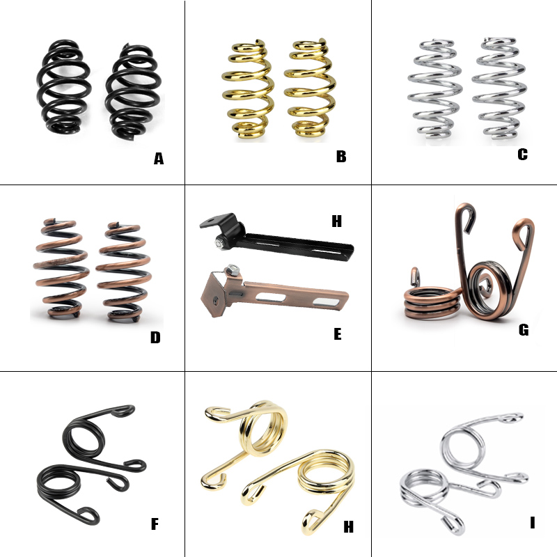 Motorcycle Solo Seat Mount Kit Seat Springs Clip Bracket Mounting For Harley Davidson Bobber Chopper Custom Glod Chrome Bronze possbay retro black motorcycle solo seat with mount bracket springs for harley custom chopper bobber leather saddle seat