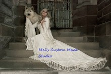 Custom Made Victoria Velvet and Lace Fantasy Medieval Fairy Period Gown Custom/Theater Dress