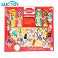 Brinquedo do bebê 63 pcs vestido-ups de madeira magnético de madeira brinquedos educativos brinquedo do bebê play house presente wd095