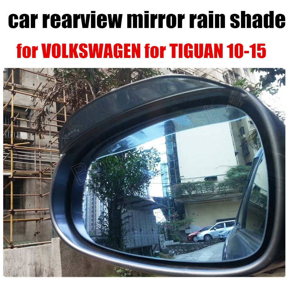 2 pieces hot sale Car Styling Rearview plastic Mirror Eyebrow Rain Cover for VOLKSWAGEN for TIGUAN 10-15
