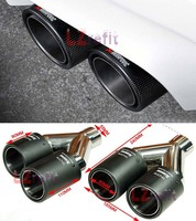 AK Style Real Carbon Fiber Quad Exhaust Muffler Tips Pip For BMW BENZ VW AUDI M3 M5 M6 1M X5 X6 1pair