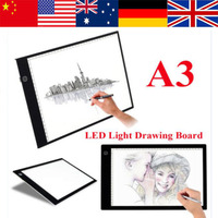 Portable Digital Tablets Drawing Board A3 LED Graphics Drawing Tablet Ultra Thin Light Pads Animation Tracing