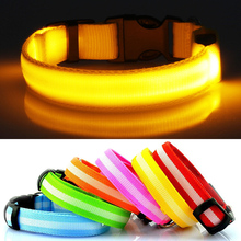 Great LED Dog Nylon Collar – Walk your dog safely at night!