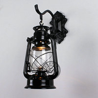 European minimalist wall lamp bedroom garden mirror lamp retro lighting wrought iron wall lamps bedside lamp led Lantern GY141
