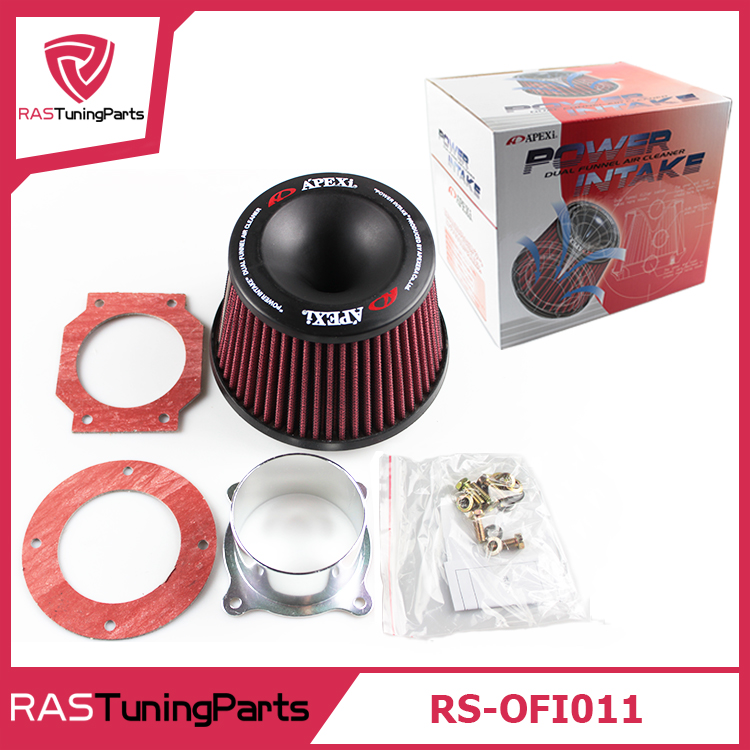 Free Shipping Apexi Universal Car Vehicle Intake Air Filter 75mm Dual Funnel Adapter Air Cleaner Protect Your Piston RS-OFI011 air filter auto vehicle car cold air intake filter cleaner funnel adapter 76mm air filter car cold kits high quality accessory