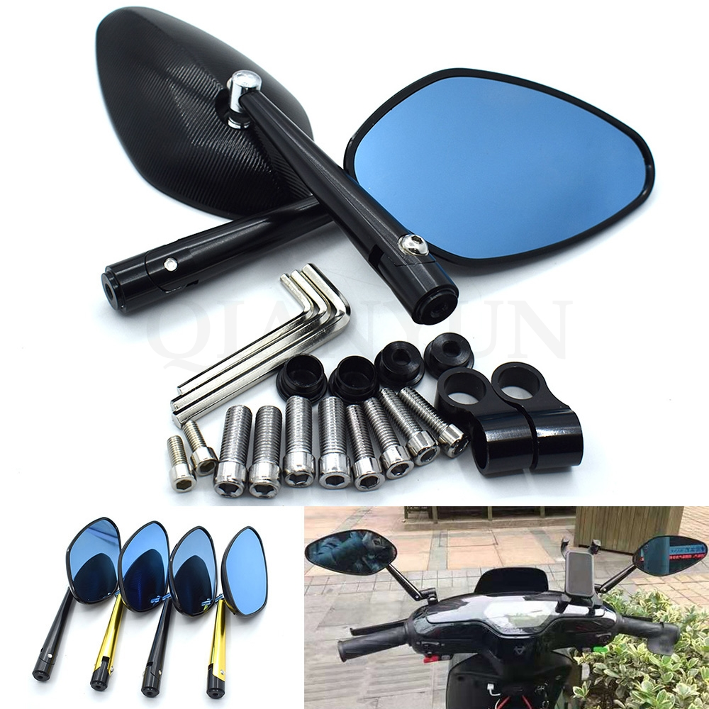 Universal new CNC aluminum alloy motorcycle rearview mirror 8mm 10mm for Yamaha YZF R1 R6 FZ1 FAZER R6S R6S FJR1300 XJR1300Universal new CNC aluminum alloy motorcycle rearview mirror 8mm 10mm for Yamaha YZF R1 R6 FZ1 FAZER R6S R6S FJR1300 XJR1300
