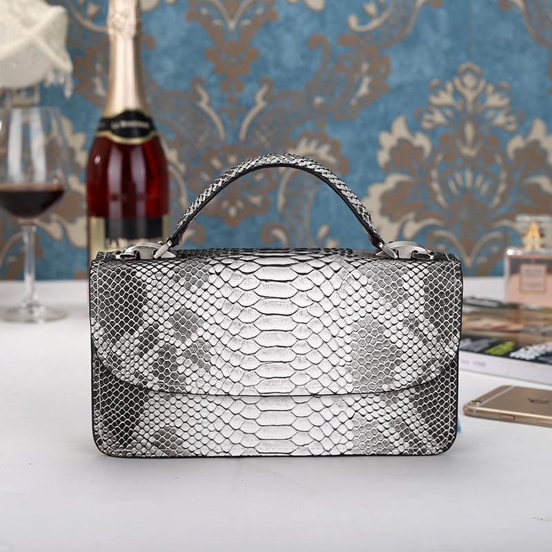 2017 New Women Handbags Gray Serpentine Chains Cover Shoulder Bags Messenger Bag Crossbody Flap Totes Ladies Handbag Wholesale