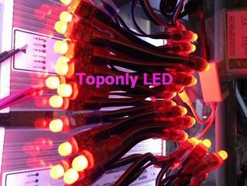 DC5v 12 MM RGB ha condotto la luce della stringa per la pubblicità, cambiare colore del led luci Della Stringa + IR controller rgb + trasformatore, trasporto libero! Toponly Tech LED Store