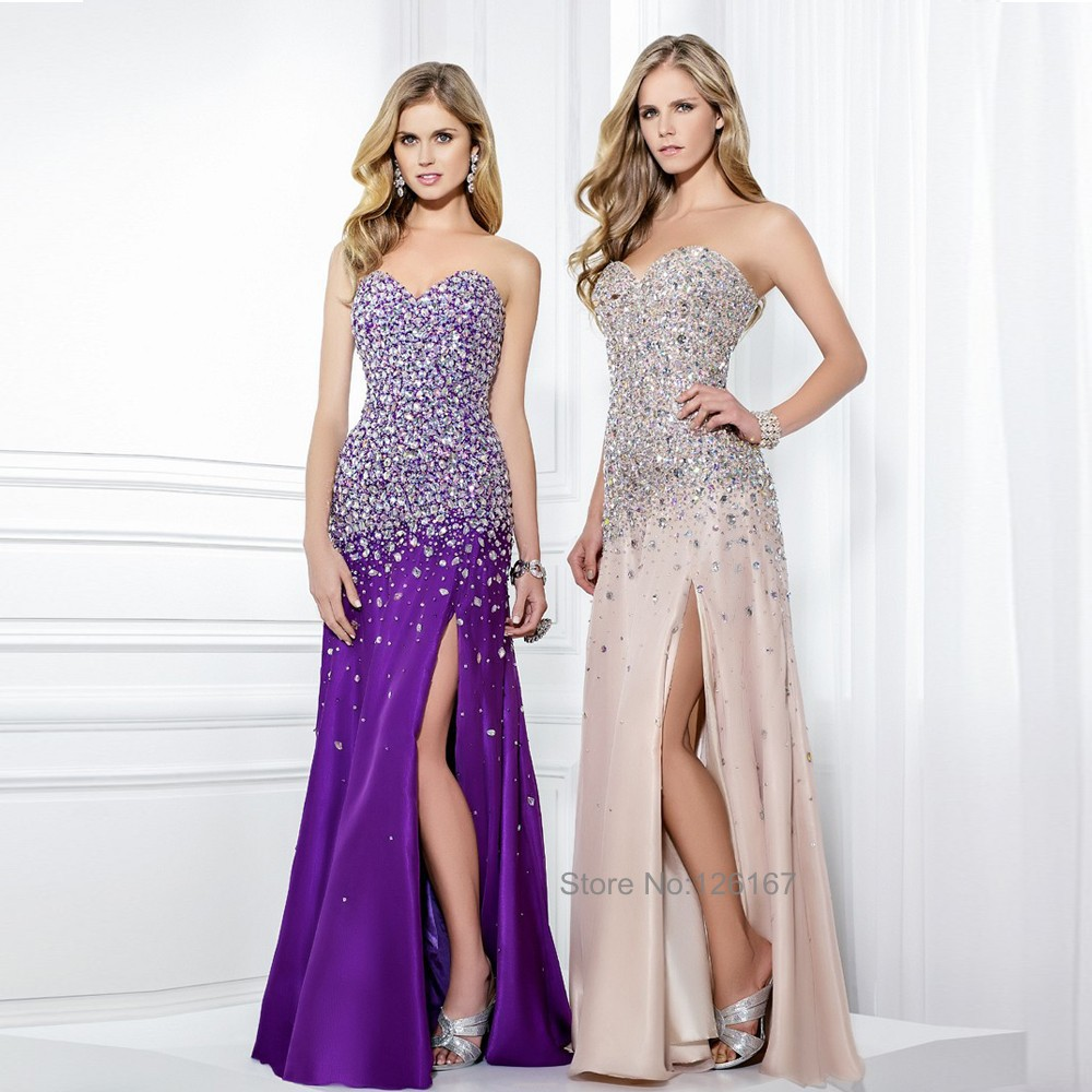 Online Get Cheap Purple Sparkly Prom Dress -Aliexpress.com ...
