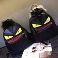 Family matching men women Monster small backpack Leopard Grain Fox Fur Backpacks