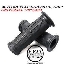 Universal 7/8 22 MM Vintage gummi Motorrad griff griffe kaffee Motorrad lenker griffe 3 Farben Erhältlich Für Yamaha hoda