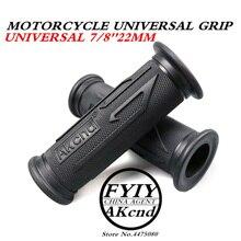Universal 7/8 22 MM borracha apertos do punho Da Motocicleta Do Vintage café Motorbike guiador grips 3 Cores Disponíveis Para Yamaha hoda