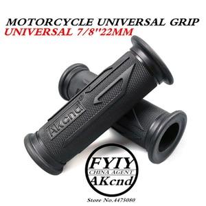 Image 1 - Universal 7/8 22MM Vintage rubber Motorcycle handle grips coffee Motorbike handlebar grips 3 Colors Available For Yamaha hoda