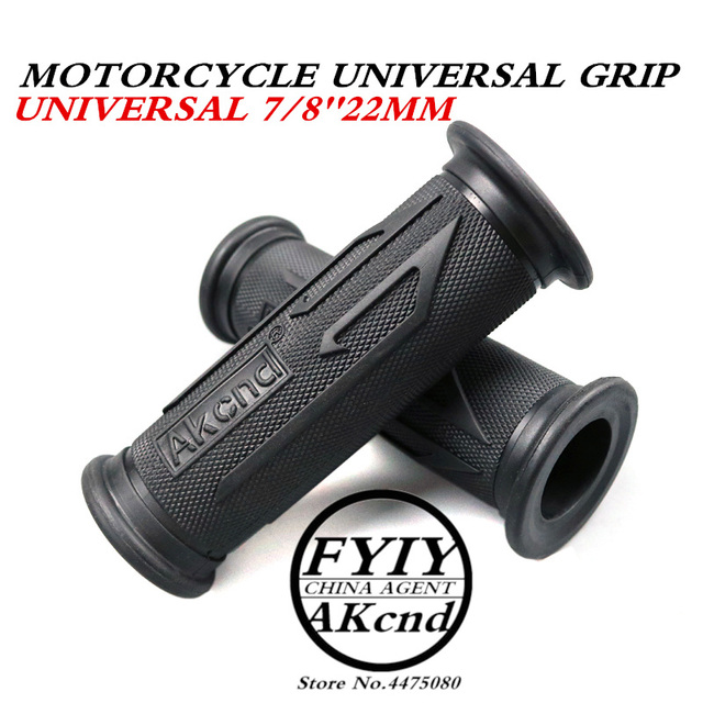 Universal 7/8 22MM Vintage rubber Motorcycle handle grips coffee Motorbike handlebar grips 3 Colors Available For Yamaha hoda