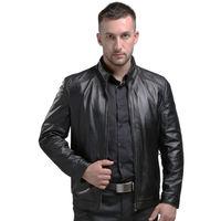 Argy Spring Men S Genuine Leather Jackets Brand Real Sheepskin Jaqueta De Couro Black Male Genuine