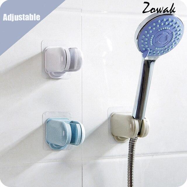 Merveilleux Adjustable Handheld Shower Head Holder Bracket Plastic Bathroom Adhesive  Showerhead Adapter Waterproof Wall Mounted Showering