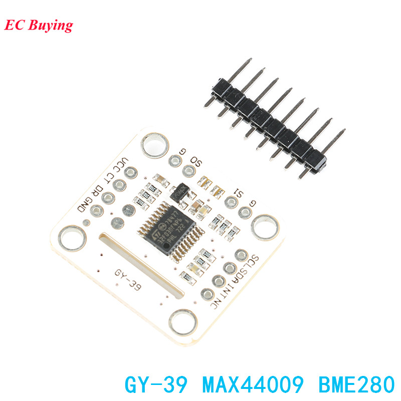 GY-39 MAX44009 BME280 Sensor Module GY-39-44009 Temperature and Humidity Sensor UART IIC TTL Electronic DIY BoardGY-39 MAX44009 BME280 Sensor Module GY-39-44009 Temperature and Humidity Sensor UART IIC TTL Electronic DIY Board