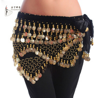 Cheap Dancewear Women Training Clothing Triangle Hip Scarf Colorful Rhinestone Adjustable Fit 300 Gold Coins Belly
