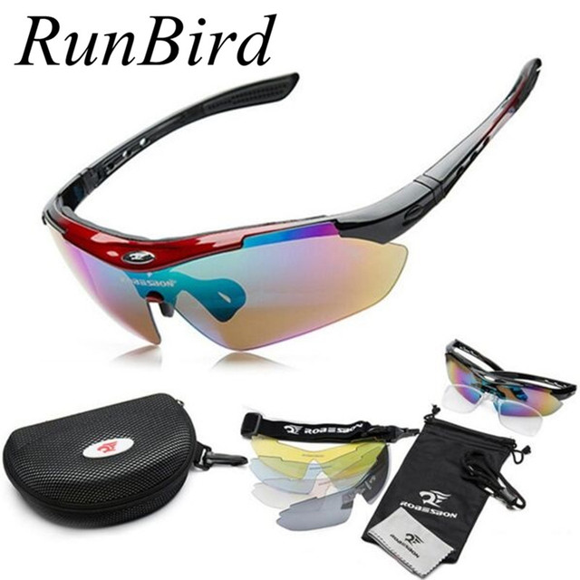 2016 Sport Eyewear Sunglasses Men Women Outdoor Gafas De Sol Driving UV400 Sport Sun Glasses 5 Lenses Original Box R063