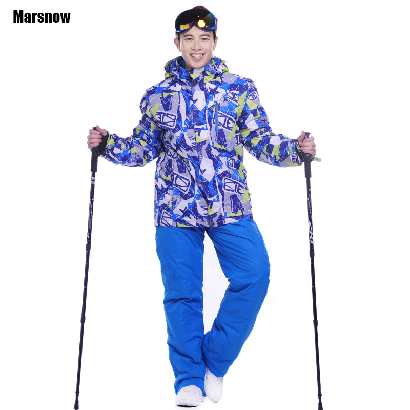Costume d'hiver hommes pantalon et veste newestwarm ski Ski snowboard extérieur imperméable coupe-vent neige vêtements ski costume mâle