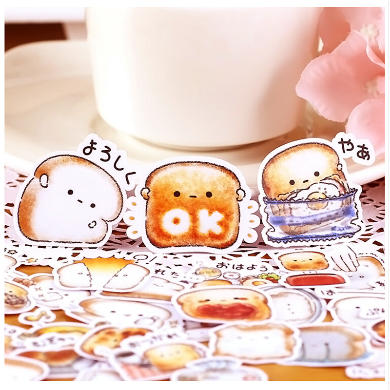 40pcs Creative Cute Self-made Bread Story/ Food Scrapbooking Stickers /Decorative Sticker /DIY Craft Photo Albums Kawaii