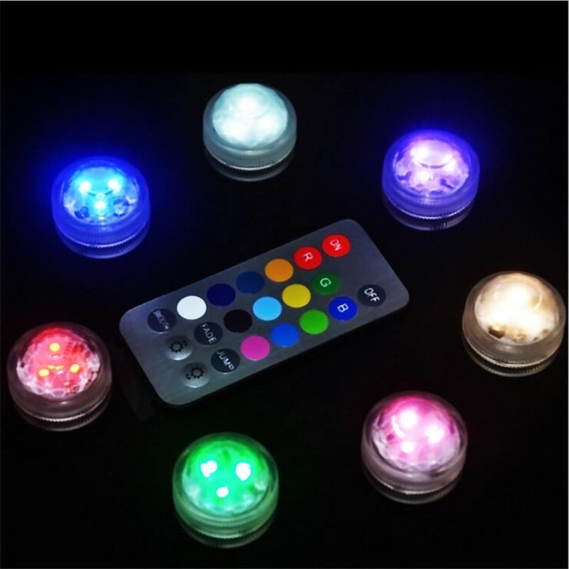 Bateria e llambës së natës të papërshkueshëm nga uji 10 x udhëhequr nga bateria e udhëhequr nga drita e papërshkueshme nga drita, e udhëhequr për ndriçimin e partisë së barërave të ndritshme me kontrollues të largët