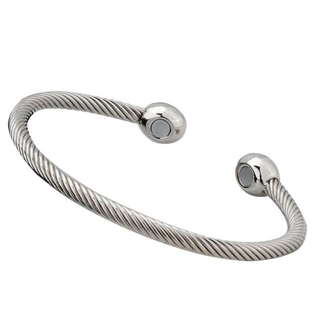 Bracelet Magnetique argent