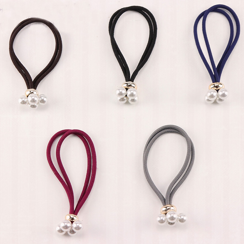 2017 New Arrival Women Elastic Hair Bands Luxury Pearl Women Hair Gum Ladies Hair Rope Girls Hair Accessories Headwear Wholesale