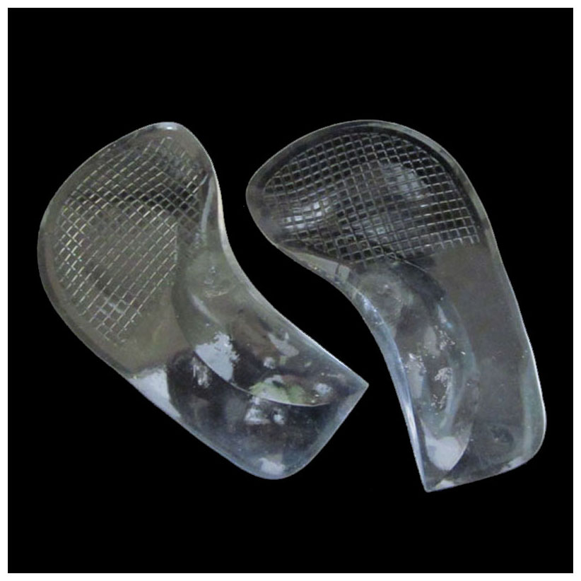 Non-Slip Pain Relief Flat Feet Orthotic Arch Support Gel Pads Shoe Insoles Cushion Transparent 2 pairs flat feet orthotic arch support gel pads non slip pain relief shoes insoles