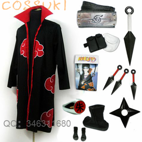 Free Shipping Newest Stock Naruto Uchiha Itachi Cosplay Costume Suits Perfect Custom For you Can t