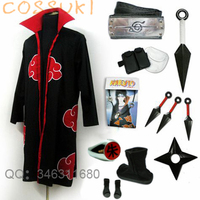 Free Shipping Newest Stock Naruto Uchiha Itachi Cosplay Costume Suits Perfect Custom For You