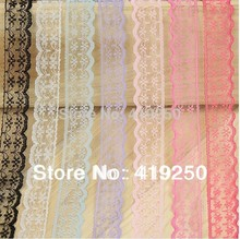 600yard various colors Yard Handicrafts Embroidered Net Lace Trim Ribbon. 25colors