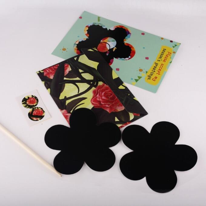 1 Satz/los 180*115mm Schöne Bunte Graffiti Malerei Rubbellos Weihnachtskarte Inspirieren Kinder Intelligenz Card Geschickte Herstellung