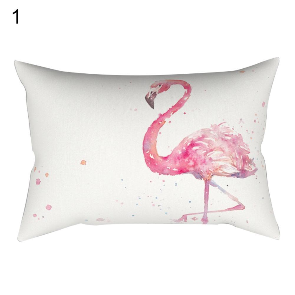 30x50cm Pillowcase Pillow Cushion Case Cover Flamingo Design Home Decoration