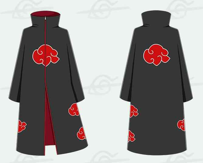 Anime Naruto Cosplay Kostum Akatsuki Jubah Hoodie Naruto Uchiha Itachi Cosplay Anime Kostum