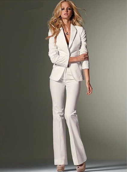 Aliexpress.com : Buy Custom Women Slim Fit Pant Suits Formal White ...