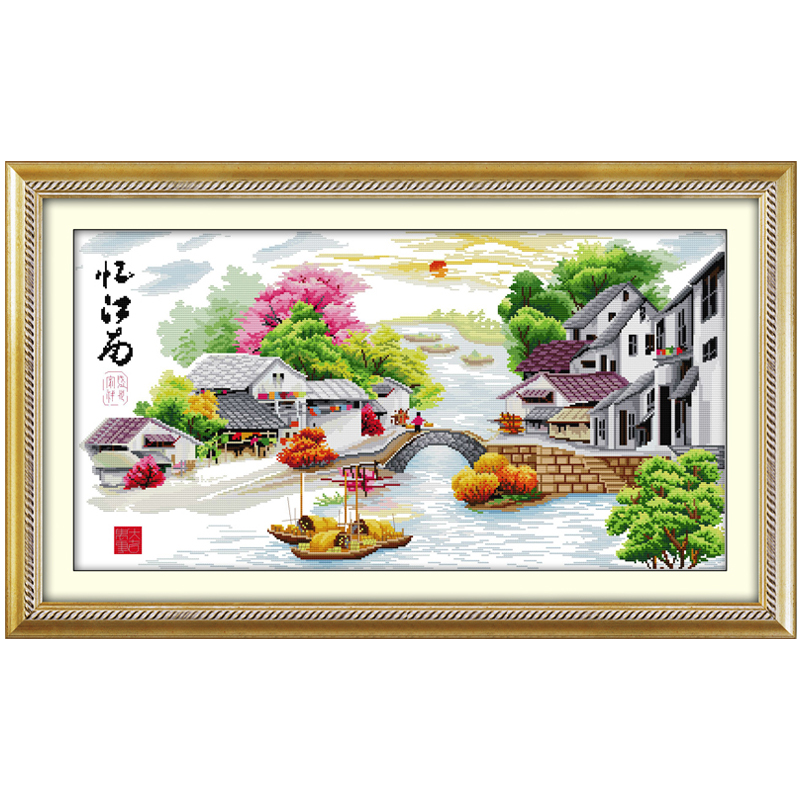 Water Village in Dream Patterns Counted Cross Stitch 11 14CT Cross Stitch Set Wholesale Cross-stitch Kits Embroidery NeedleworkWater Village in Dream Patterns Counted Cross Stitch 11 14CT Cross Stitch Set Wholesale Cross-stitch Kits Embroidery Needlework